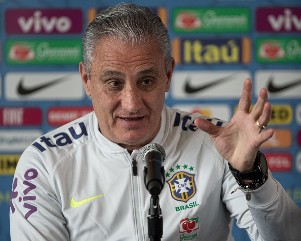 Tite, técnico da seleção brasileira — Foto: Pedro Martins / MoWA Press