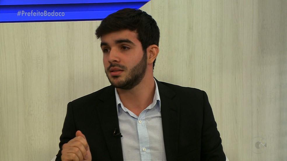 Prefeito de Bodocó Túlio Alves — Foto: Reprodução/ TV Grande Rio