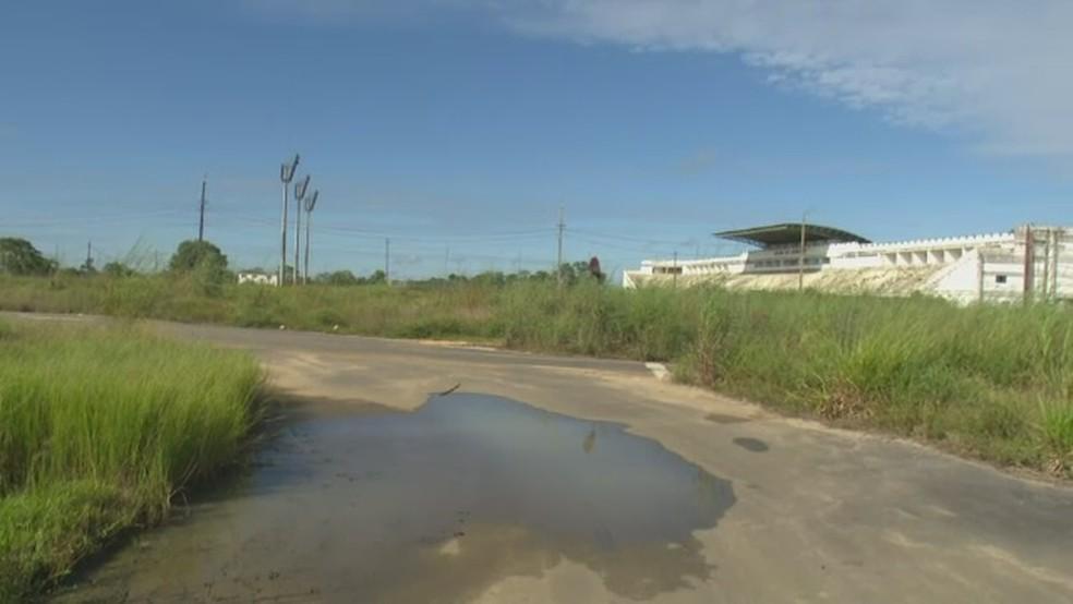 Arena do Juruá, em Cruzeiro do Sul (Foto: Reprodução/Rede Amazônica Acre)