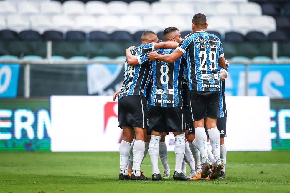 Grêmio tem 78 gols marcados em 55 jogos na temporada. — Foto: Lucas Uebel/Divulgação Grêmio