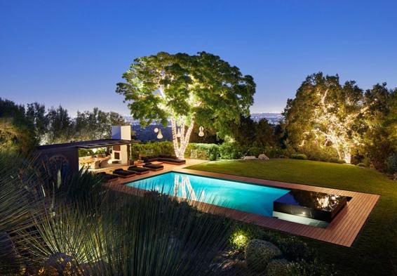 A casa que a atriz Jennifer Aniston decidiu vender e que dividia com o ex-marido, o ator Justin Theroux (Foto: Divulgação)