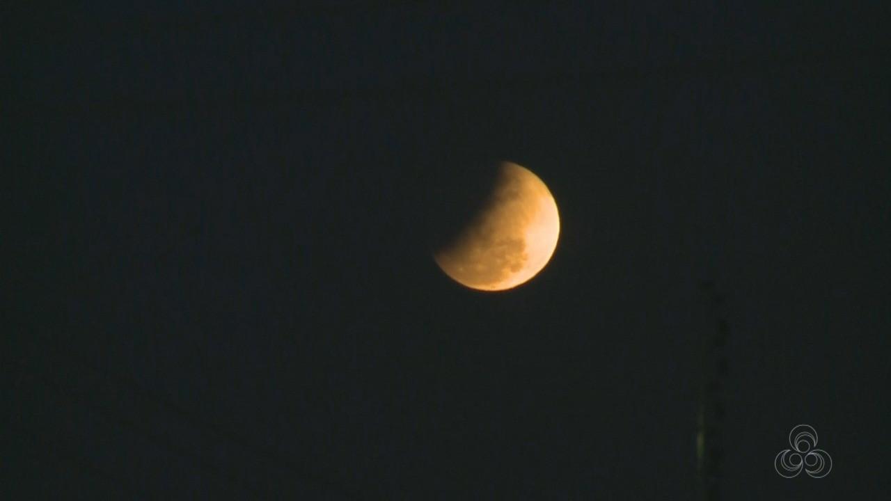 Eclipse lunar parcial é registrado em Porto Velho  - Notícias - Plantão Diário