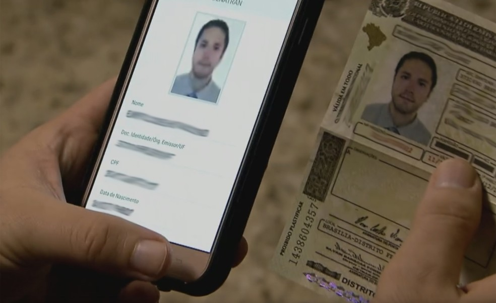 CNH digital será acessada pelo celular (Foto: Reprodução / Jornal Hoje)