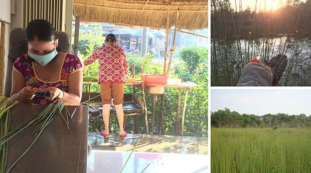 Os produtos são feitos por um grupo de mulheres artesãs locais. (Foto: Divulgação)