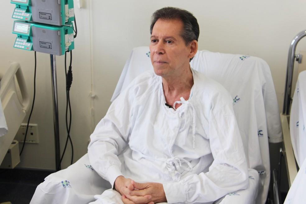 Vamberto, 62, é funcionário público aposentado de BH e sofria de um linfoma terminal — Foto: Hugo Caldato/Hemocentro RP