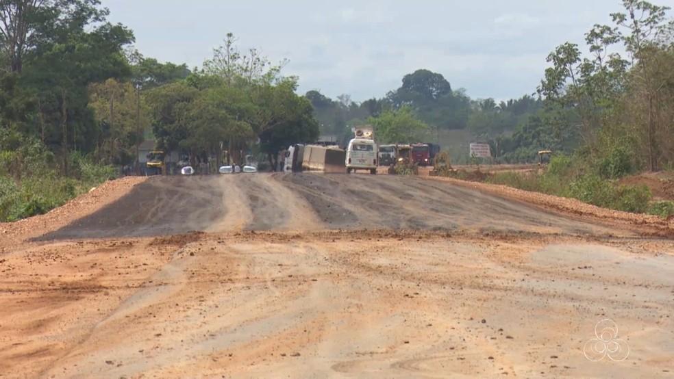 Mais de 13 quilômetros serão pavimentados (Foto: Rede Amazônica/Reprodução)