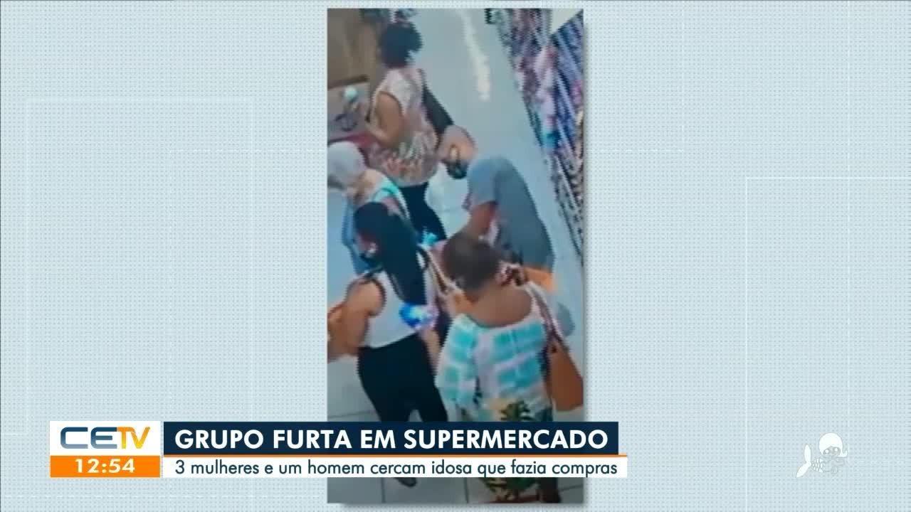 Grupo furta supermercado em Fortaleza