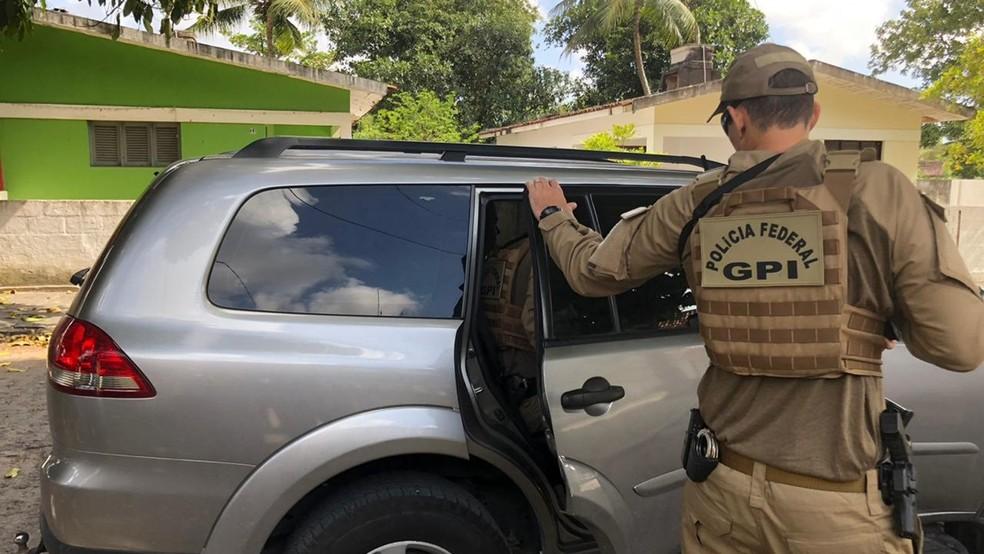 Suspeito de 24 anos foi preso pela Polícia Federal em João Pessoa, nesta quinta-feira (11) — Foto: Polícia Federal/Divulgação