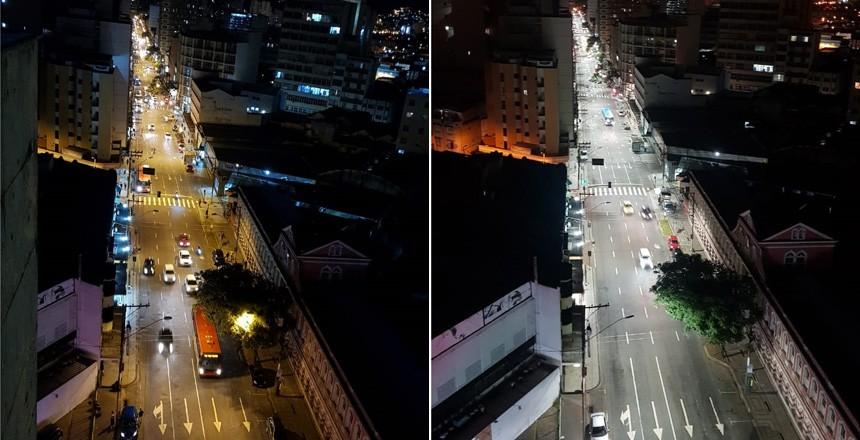 Lâmpadas de LED são instaladas na Avenida Getúlio Vargas em Juiz de Fora