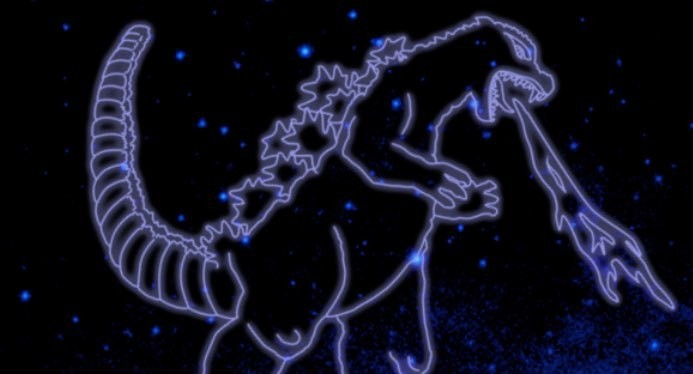 Constelação não-oficial que homenageia Godzilla (Foto: Divulgação/NASA)
