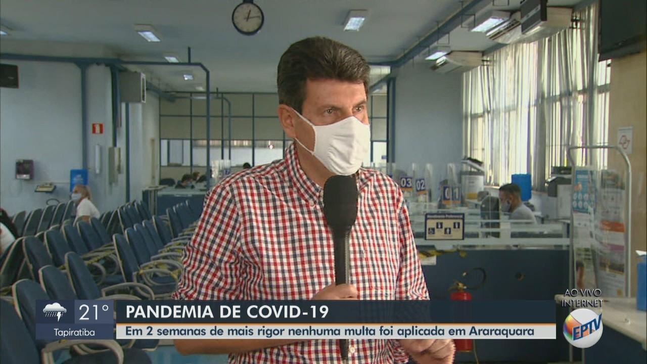 Em duas semanas de mais rigor, nenhuma multa foi aplicada em Araraquara