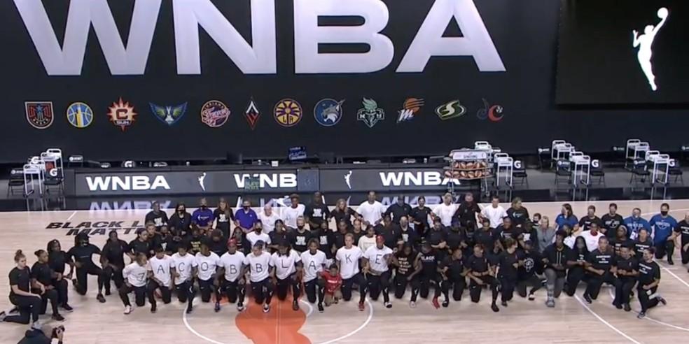 Protesto jogadores WNBA — Foto: Divulgação