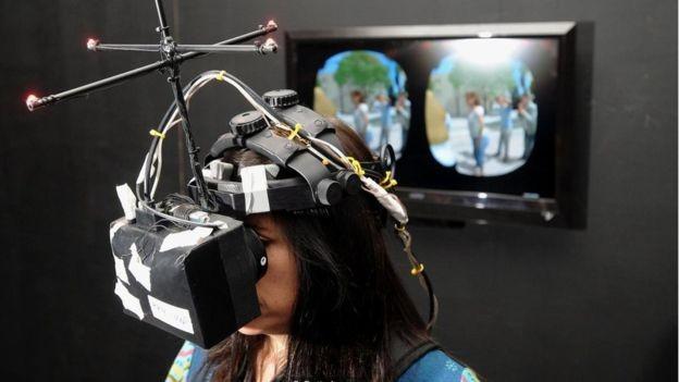 Nonny de la Peña, aqui fotografada no festival de Sundance em 2012, tem sido chamada de madrinha da realidade virtual (Foto: GETTY IMAGES)