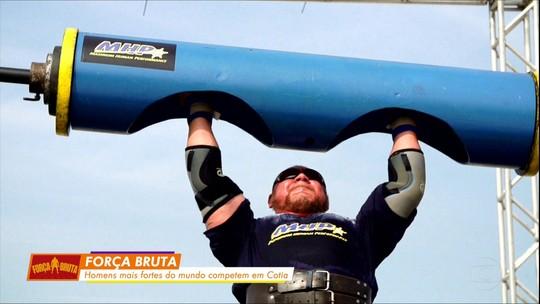 Força Bruta reúne ex-jogador de rugby, personal trainer, 'viking' e mais forte da América do Sul