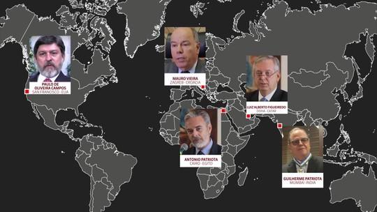 Veja como ficou o troca-troca de embaixadores no governo Bolsonaro