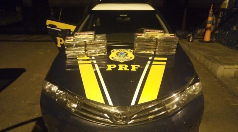 Carro é apreendido com 30 kg de cocaína em rodovia de MS