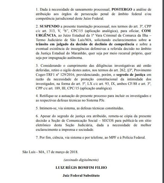 Suspenso processo que investiga suposta quadrilha de contrabandistas no Maranhão