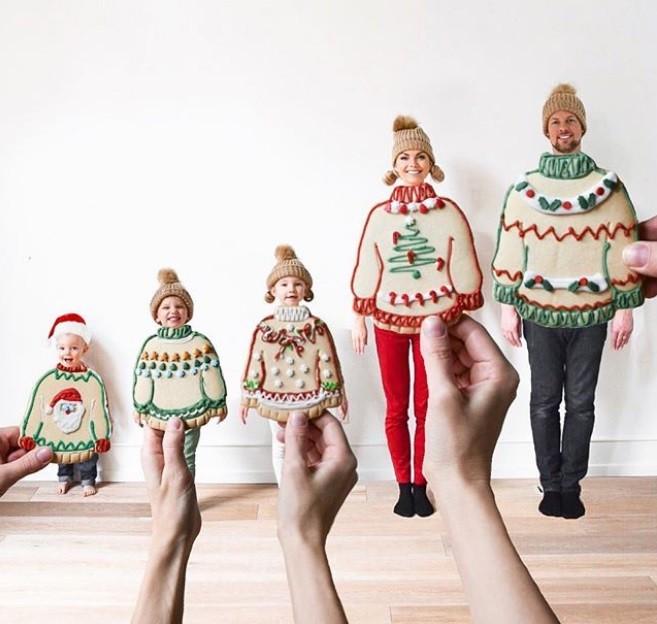 Criatividade: já pensou em tirar uma foto em família usando alimentos como figurino? (Foto: @kweilz/Instagram)