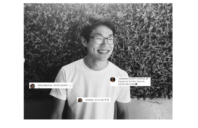 Nos comentários, fãs elogiam o sorriso e as covinhas de Thiago. 'Estou apaixonada', escreveu uma delas (Foto: Reprodução/Instagram)