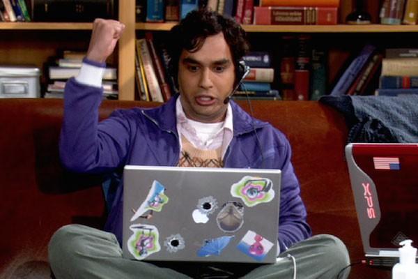 O ator Kunal Nayyar como Raj em The Big Bang Theory (Foto: Reprodução)