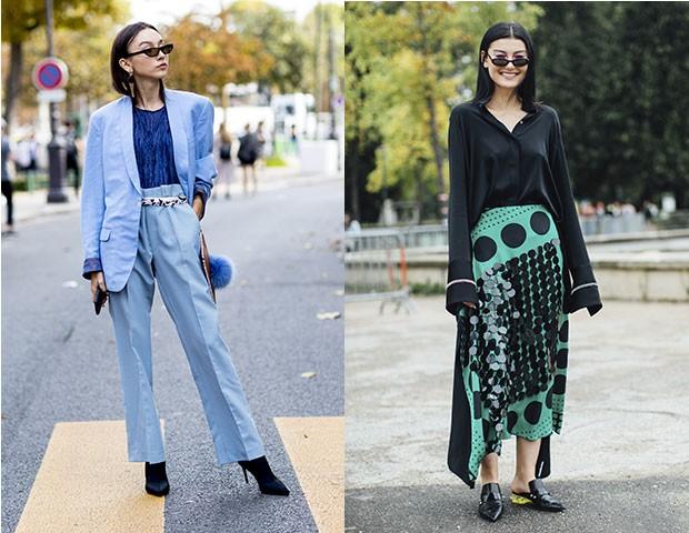 Os óculos finos no street style de Paris (Foto: Imaxtree)