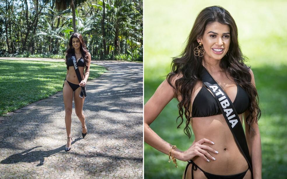 Miss Atibaia Mariana Abdalla tem 22 anos e é educadora física e Modelo — Foto: Fábio Tito/G1