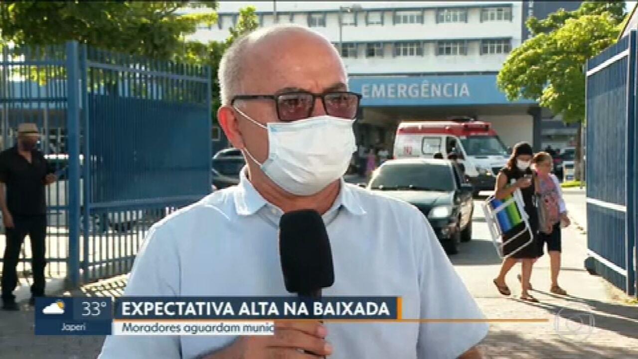 Cidades da Baixada se preparam para começas a imunização
