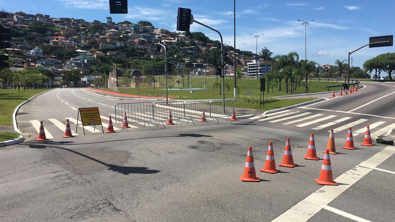 Parte da Avenida Gustavo Richard, no Centro de Florianópolis, será fechada aos domingos