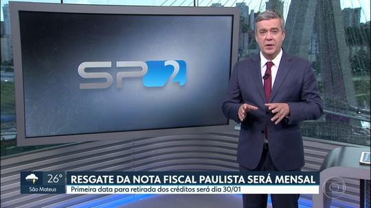 Resgate de créditos da Nota fiscal Paulista será mensal a partir de 30 de janeiro