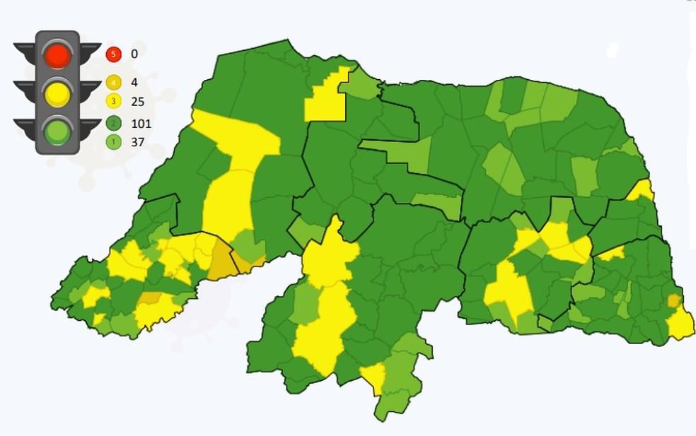 Apenas cidades com indicadores verdes podem realizar eventos sociais com até 300 pessoas no RN, segundo decreto — Foto: Reprodução