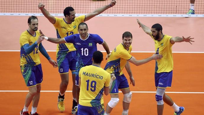 Brasil x Argentina vôlei masculino (Foto: Reuters)