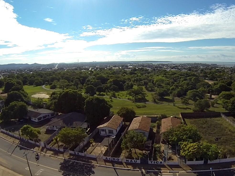 Vista aérea do Parque da Cidade, em Santarém, PA (Foto: Reprodução/STC No Ar)