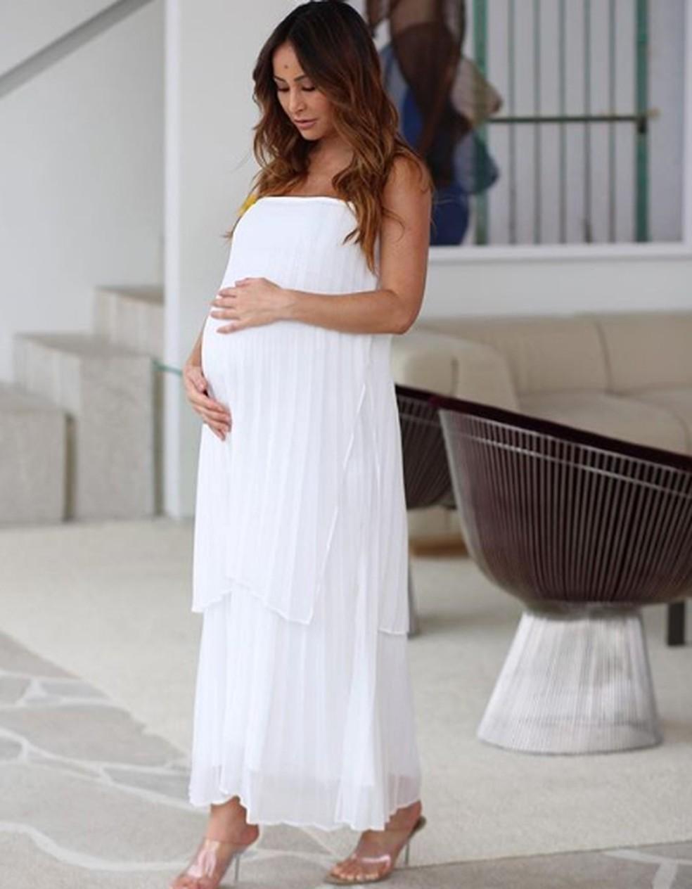 Sabrina no final de sua gravidez — Foto: Reprodução / Instagram