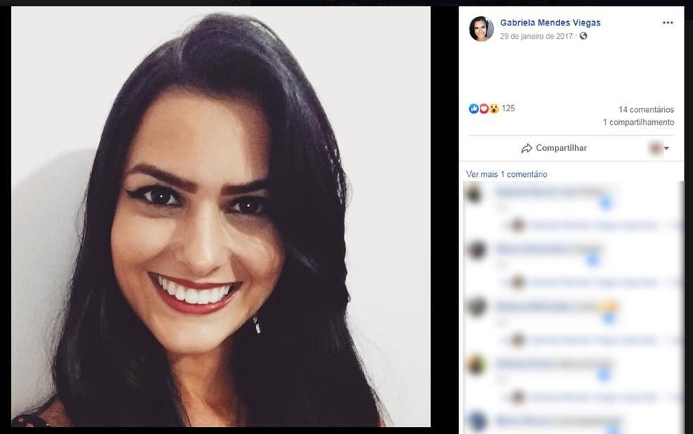 Gabriela Viegas, Miss Ilhéus 2018, morta em Belo Horizonte — Foto: Reprodução/Facebook