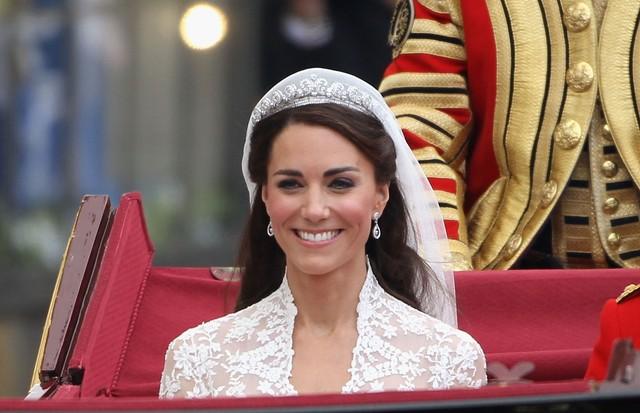 Kate Middleton fez a própria maquiagem no dia do seu casamento (Foto: Getty Images)