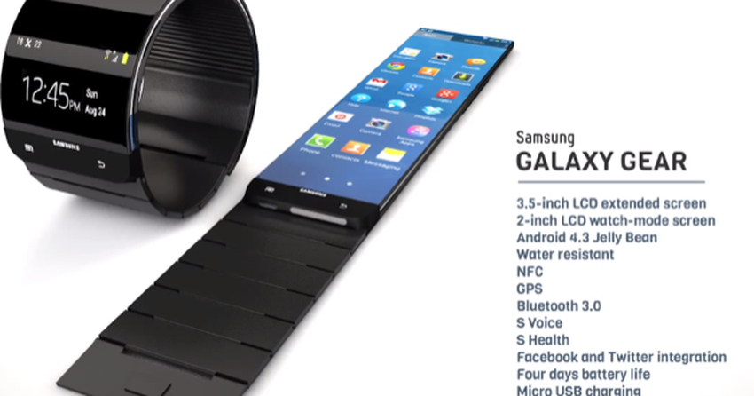 e7c8b25517c Relógio inteligente da Samsung é  apresentado  em vídeo conceitual ...