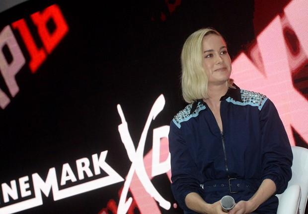 Brie Larson, a Capitã Marvel, na CCXP18 (Foto: Francisco Cepeda/AgNews)