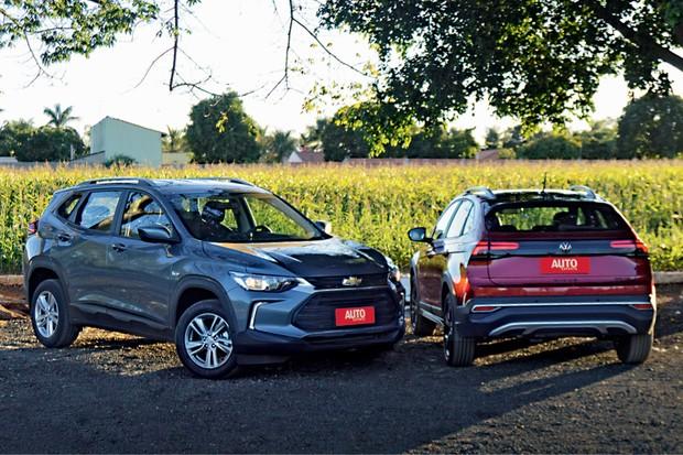 Chevrolet Tracker e Volkswagen Nivus (Foto: André Schaun)