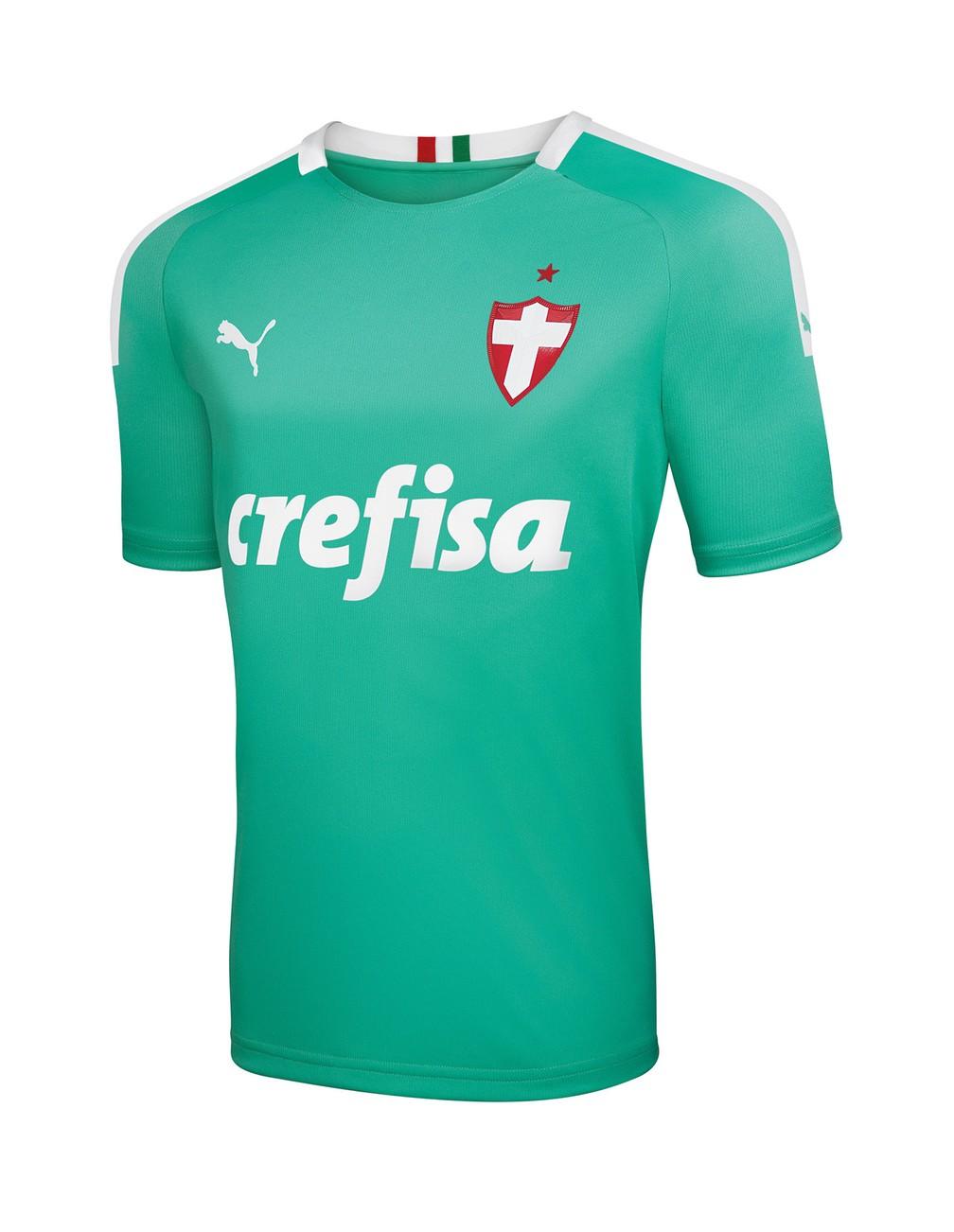 Modelo masculino da camisa do Palmeiras vai custar R$ 249,90 — Foto: Divulgação/Palmeiras