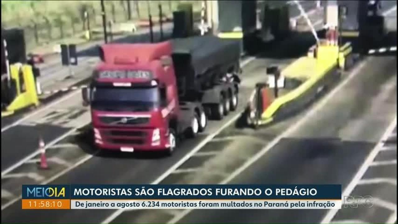 Câmeras flagram motoristas que furam pedágio no Paraná