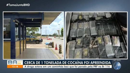 PRF apreende cerca de uma tonelada de cocaína na BR-116, em Feira de Santana