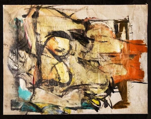 O quadro de Willem de Kooning (1904-1997) avaliado em R$ 593 milhões e encontrado no sótão da casa de um casal de idosos (Foto: Reprodução)
