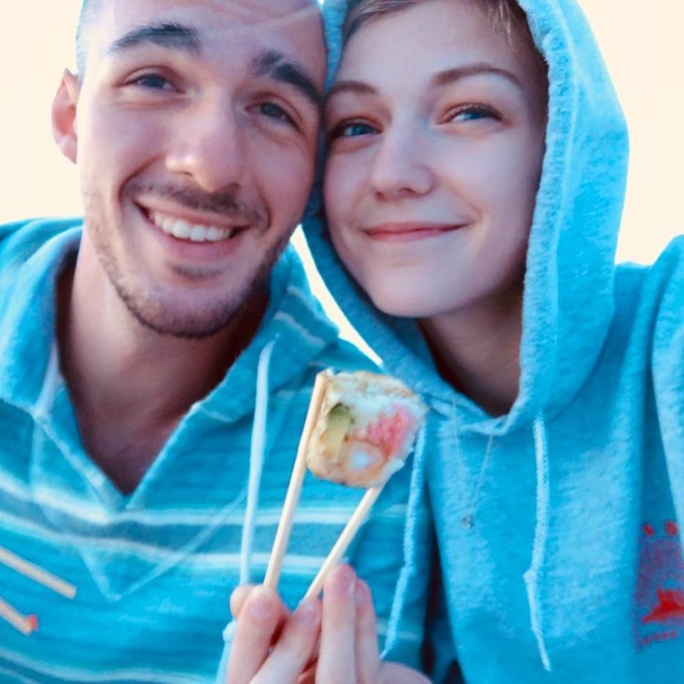 Brian Laundrie e a namorada Gabby Petito, em foto de 2 de julho de 2020 — Foto: Reprodução/Instagram