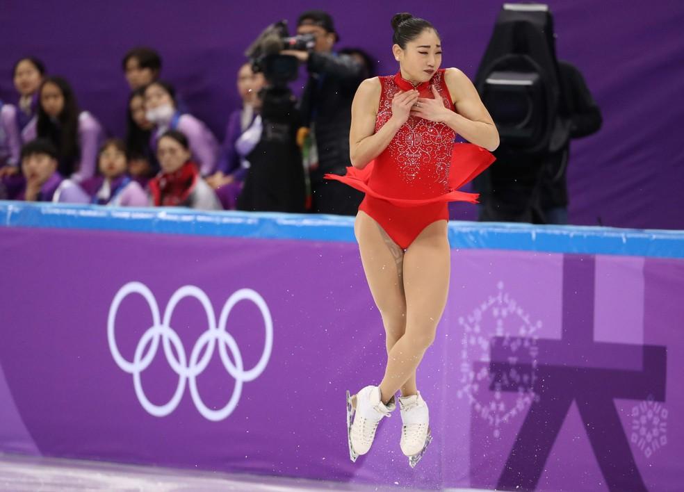 Mirai Nagasu entrou para a história dos EUA (Foto: Reuters)