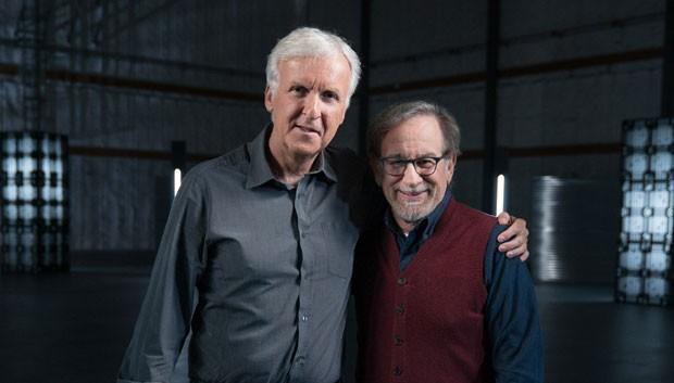 James Cameron e Steven Spielberg (Foto: Divulgação/MC)