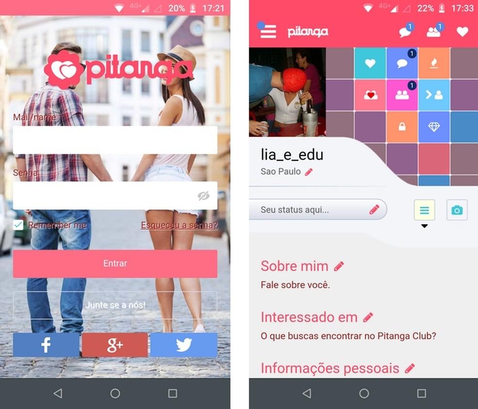 Viva um poliamor!, app para Android do Pitanga Club, permite marcar encontros casuais — Foto: Reprodução/Raquel Freire