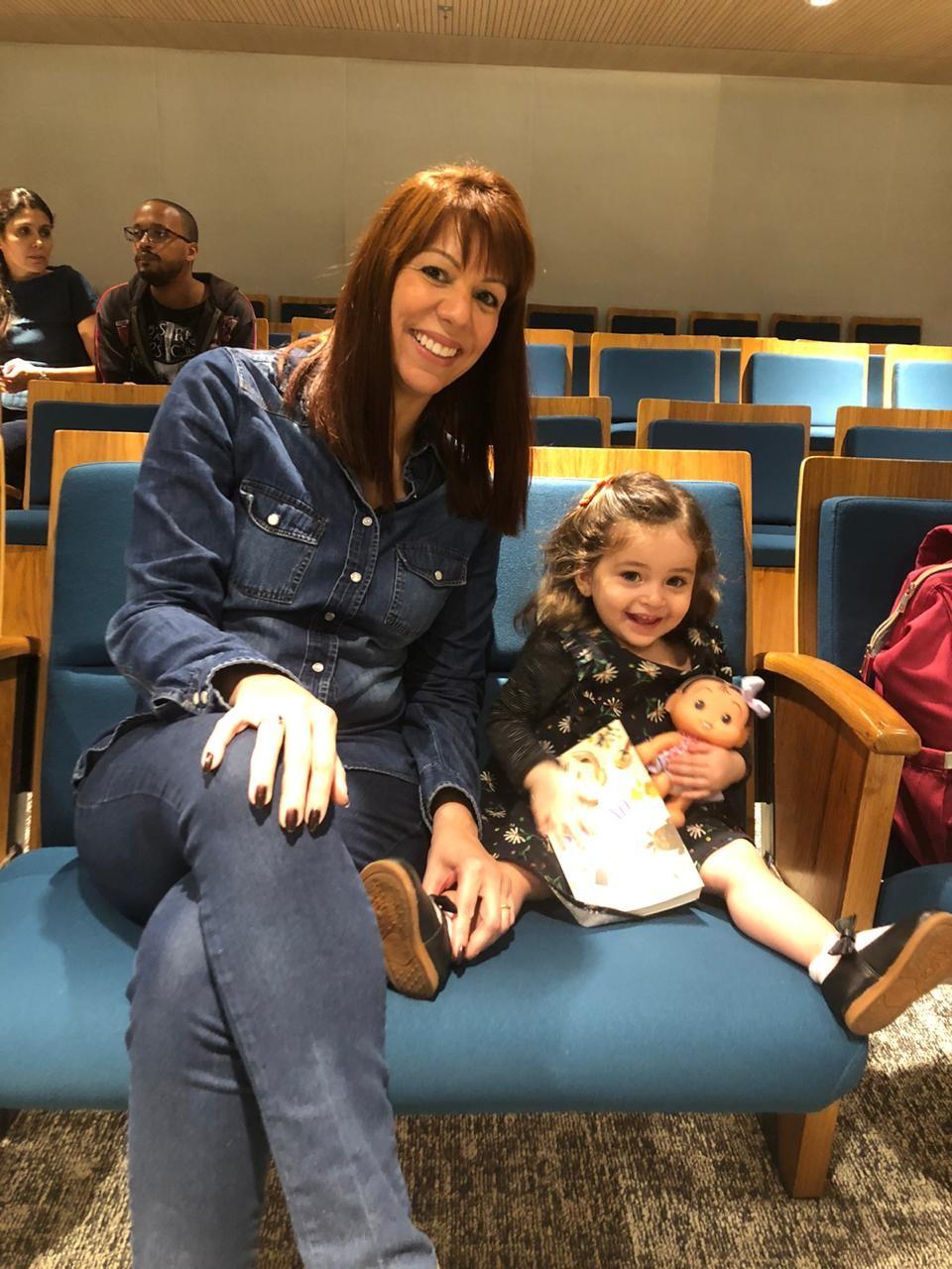 Rachel Pinheiro Costa: assinante foi ao Encontro com Autores Globo Livros, no auditório do GLOBO