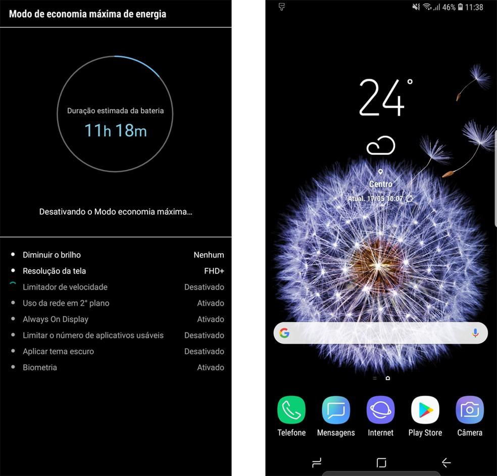 Aguarde o processo concluir e use seu Galaxy S9normalmente (Foto: Reprodução/Bruno De Blasi)