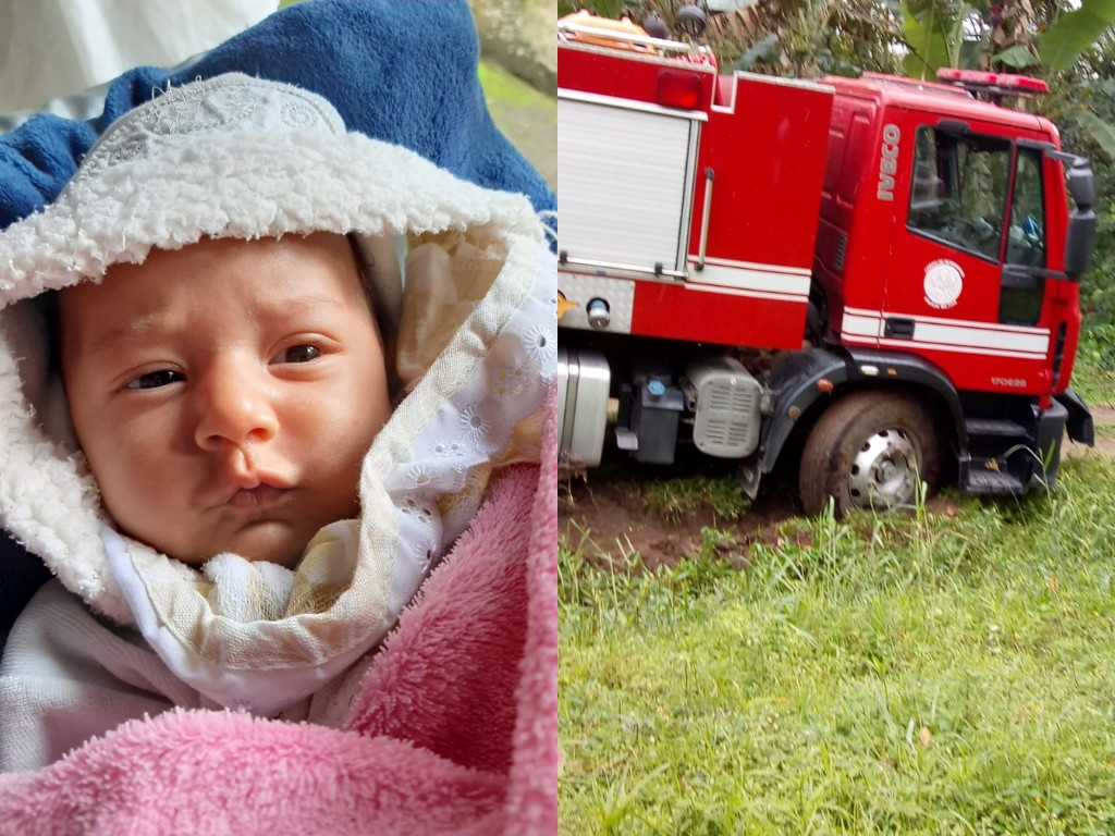 Bebê de 2 meses é salvo por vizinhas após caminhão dos bombeiros demorar e ficar atolado no litoral de SP