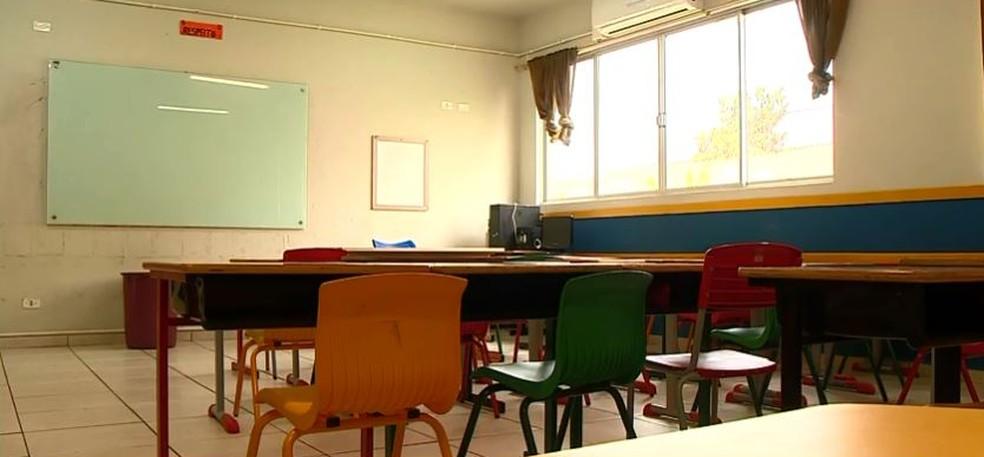Aulas presenciais estão suspensas em SC há dois meses — Foto: NSC TV/Reprodução